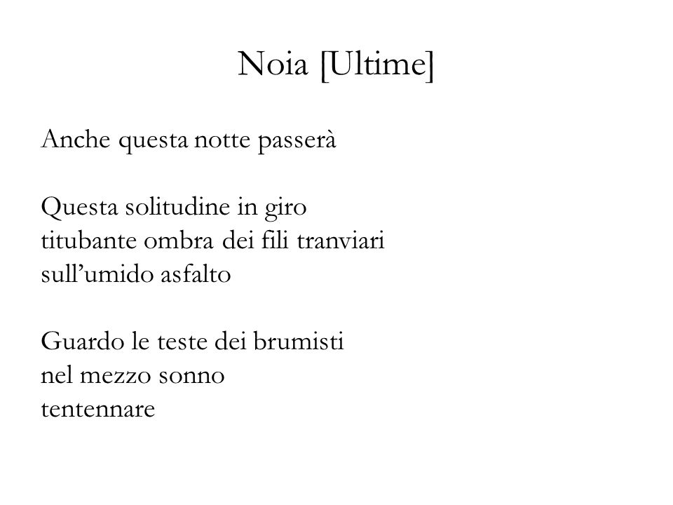 Noia [Ultime]